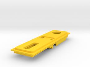 Interior Mount - 1.5mm - NO USB in Yellow Processed Versatile Plastic
