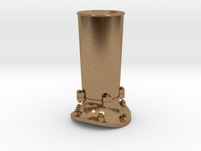 Steam locomotive smoke stack - HO scale in Natural Brass