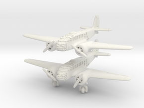 Caproni Ca.311 (2 airplanes) 6mm 1/285 in White Strong & Flexible