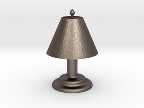 "Desk Lamp 1.4"" tall. in Polished Bronzed Silver Steel"