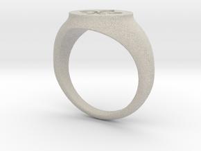 Signet Ring - Fleur De Lis in Natural Sandstone