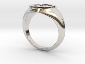 Signet Ring - Fleur De Lis in Platinum