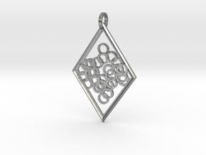 Elegant Pendant in Natural Silver