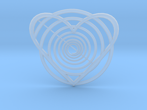 Hypnotic Heart Pendant in Smooth Fine Detail Plastic