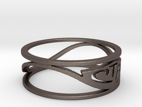 CTR Wired (Size 5.75 x 5 mm) in Polished Bronzed Silver Steel