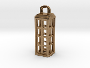 Tardis Lantern 1: Tritium (All Materials) in Natural Brass