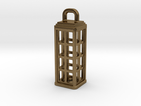 Tardis Lantern 1: Tritium (All Materials) in Natural Bronze