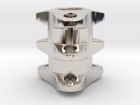 Triple Tritium Bead 2 (2x12mm Vials) in Platinum