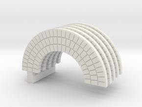 Brick Arch HO Modified  X 5 in White Natural Versatile Plastic