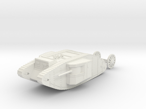 1/120 WW1 Tank Mark1 Male in White Natural Versatile Plastic