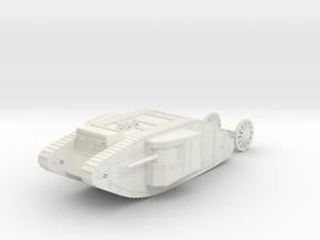 1/120 WW1 Tank Mark1 Male in White Natural Versatile Plastic