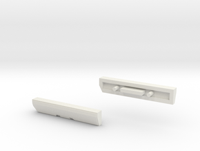 Scoria Left And Right Side Panels in White Strong & Flexible