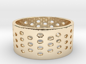 Three Four Time (Size 6.5) in 14K Yellow Gold