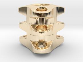 Triple Tritium Bead 1 (2.5x10mm Vials) in 14K Yellow Gold