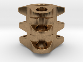 Triple Tritium Bead 1 (2.5x10mm Vials) in Natural Brass