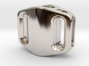 Pedal Bead Ver.2: Tritium (Silver/Brass/Plastic) in Platinum