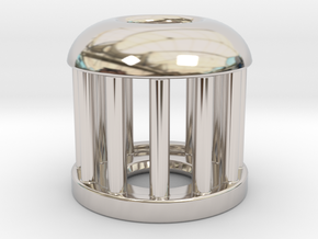 Birdcage Bead 1 (Silver/Brass/Plastic) in Platinum