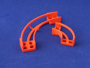 Marble Run Bricks: Curved Track Set in Red Processed Versatile Plastic