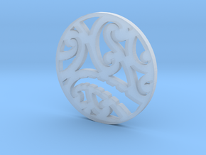 Maori koru tribal pendant design in Smooth Fine Detail Plastic