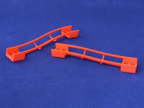 Marble Run Bricks: Sloped Track Set in Red Processed Versatile Plastic