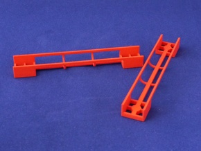 Marble Run Bricks: Straight Track Set in Red Processed Versatile Plastic