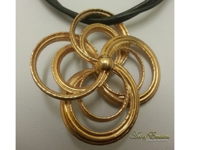 Celtic Spiral Pendant in Polished Bronze