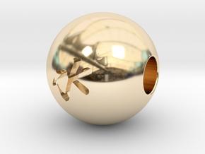 16mm Mizu(Water) Sphere in 14K Yellow Gold