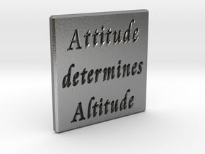 Attitude determines Altitude in Natural Silver