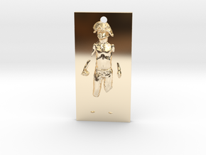 Boy Soldier Panel Pendant in 14K Yellow Gold