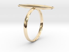 Statement Ring US Size 8 UK Size Q in 14K Yellow Gold