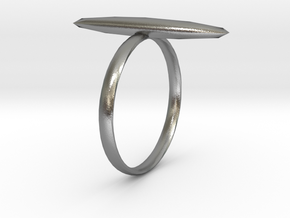 Statement Ring US Size 8 UK Size Q in Natural Silver