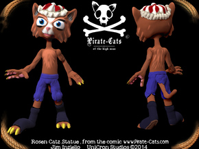 Pirate-Cat RosenCatz in Full Color Sandstone