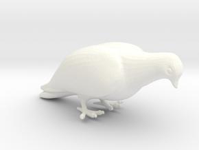 Bird No. 1 (Dove) in White Processed Versatile Plastic