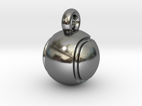 Tennis Ball in Polished Silver