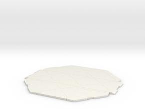 5cm x 5cm Display Platform in White Natural Versatile Plastic