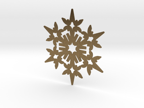 Wings Snowflake - Flat in Natural Bronze