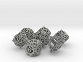 Steampunk Gear Dice Set in Metallic Plastic