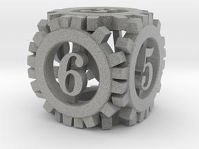 Steampunk Gear d6 in Metallic Plastic