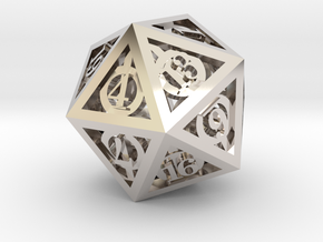 Deathly Hallows d20 in Platinum