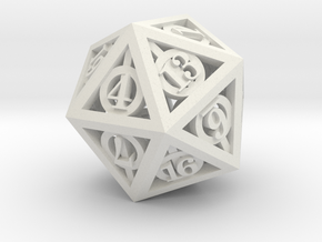 Deathly Hallows d20 in White Natural Versatile Plastic