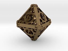 Steampunk d8 in Natural Bronze