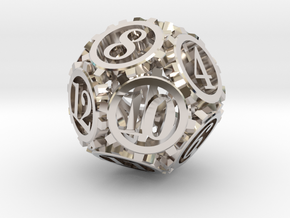 Steampunk Gear d12 in Platinum