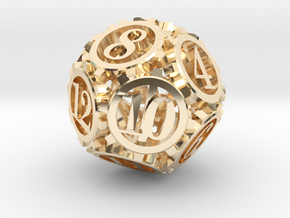 Steampunk Gear d12 in 14K Yellow Gold