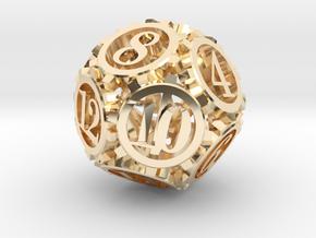 Steampunk Gear d12 in 14K Gold