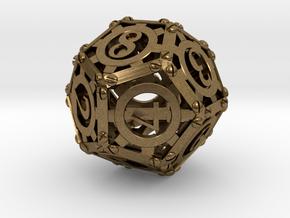 Steampunk d12 in Natural Bronze