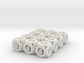 Steampunk Gear 12d6 Set in White Natural Versatile Plastic