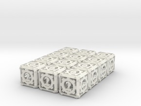 Steampunk 12d6 Set in White Natural Versatile Plastic
