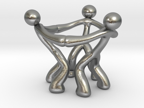 MTI Stickman-egg cup thick in Natural Silver