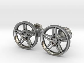 Mercedes Benz E55 AMG Cufflinks in Polished Silver