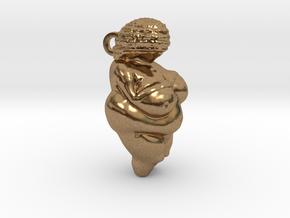 Venus of Willendorf Pendant in Natural Brass